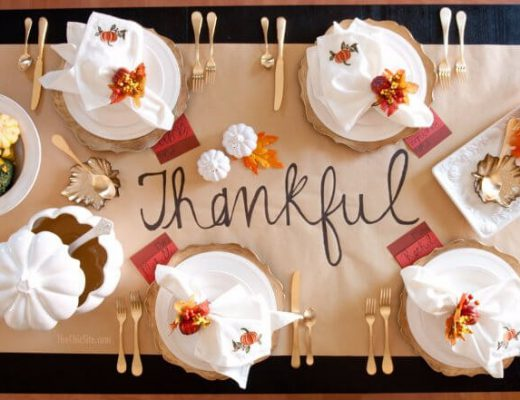 colorful theme for thanksgiving table decor