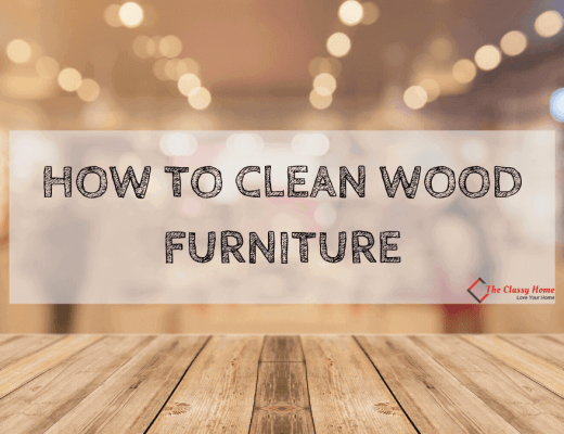 clean wood furniture banner