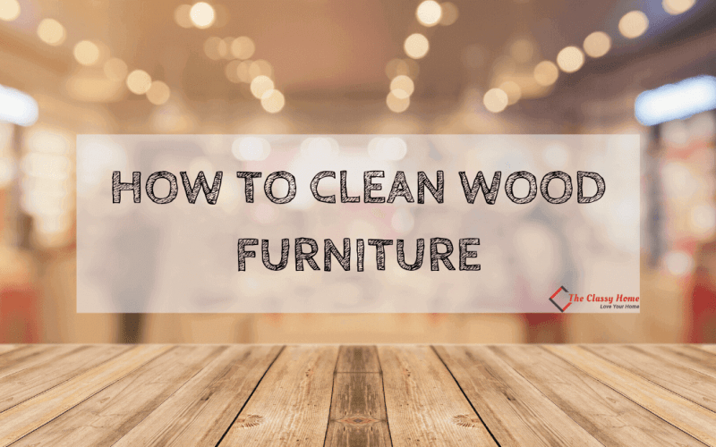 clean wood furniture banner