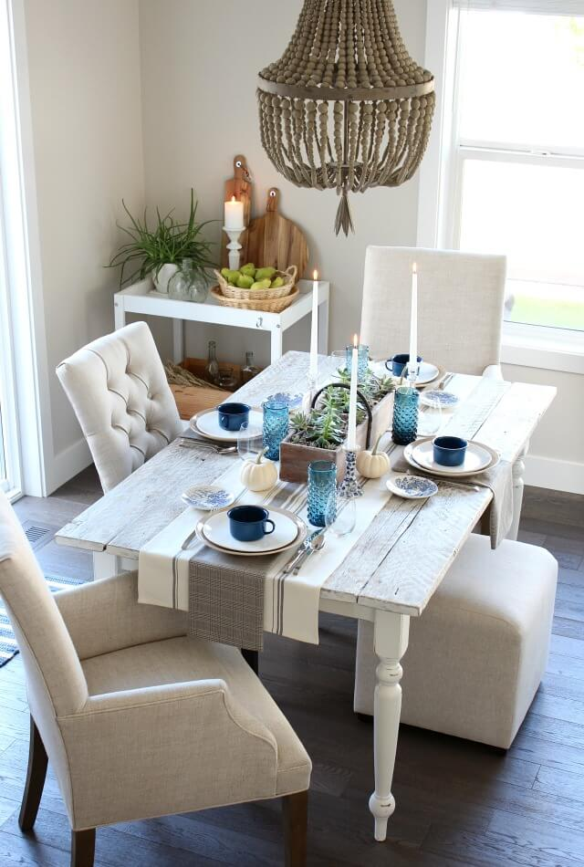 dining table decor for autumn