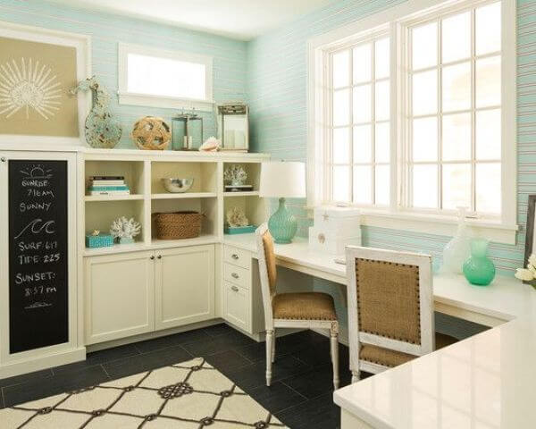 coastal style home office decor