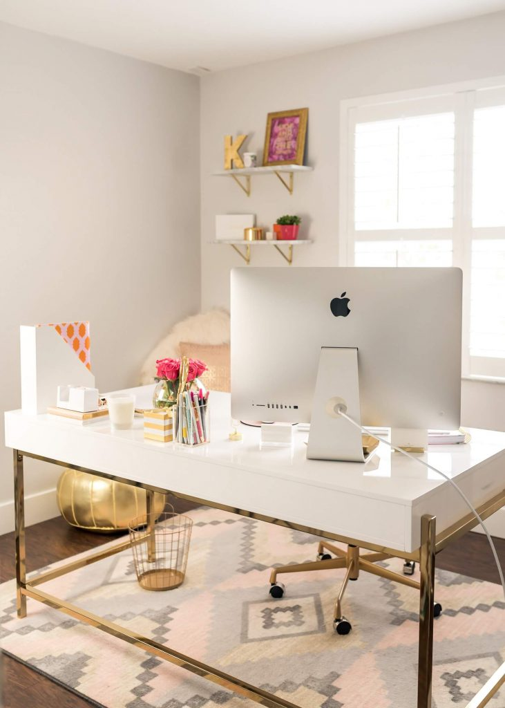 glam style home office