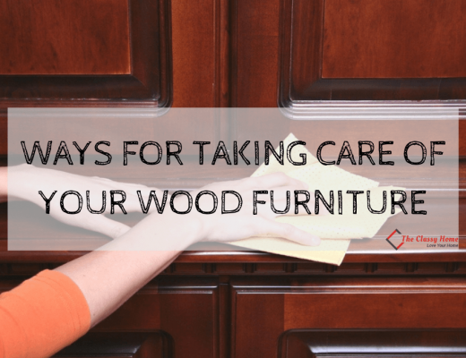 banner for wood furniture take care