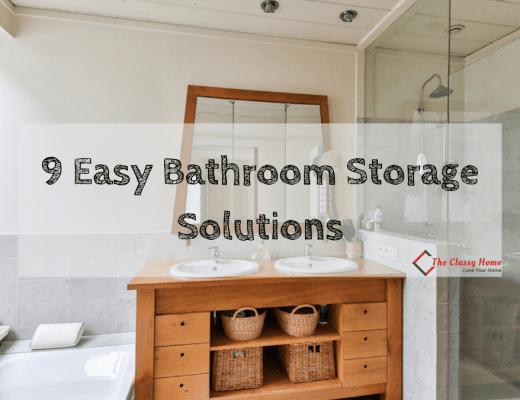 bathroom storage ideas banner