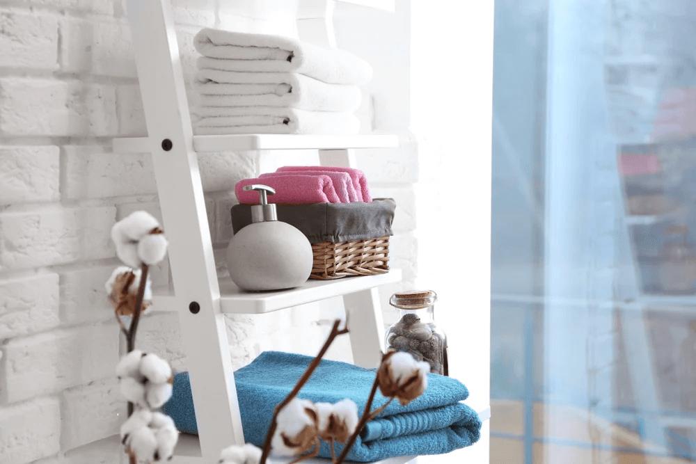 ladder storage for bathroom