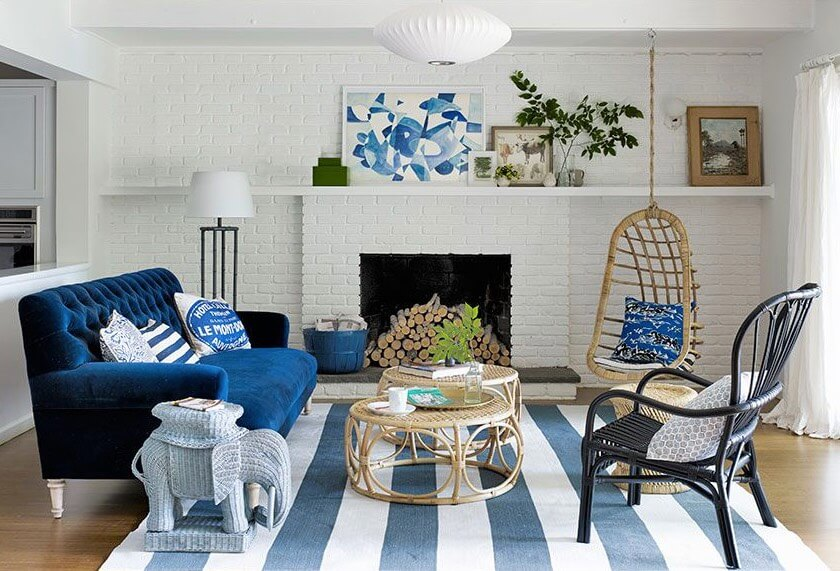 combine blue and white